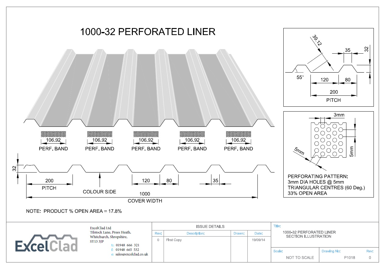 Excelclad 1000 32 Perforated